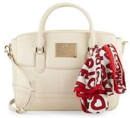 Love Moschino Logo Scarf Top Handle Bag