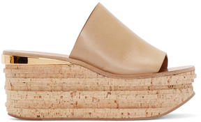 Chloé Beige Leather and Cork Sandals