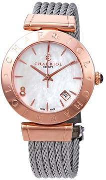 Charriol Alexandre C White Mother of Pearl Diamond Dial Ladies Watch