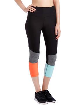 ABS by Allen Schwartz Black & Coral Color Block Capri Leggings - Women