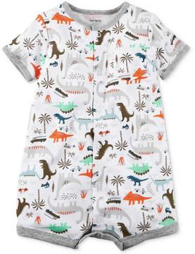 Carter's Dinosaur-Print Cotton Romper, Baby Boys (0-24 months)