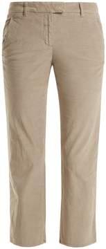 Masscob Fray-hem cropped cotton-blend trousers