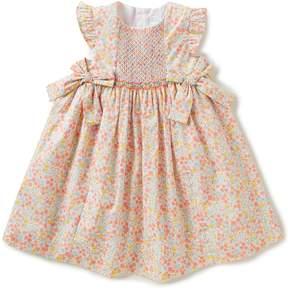 Edgehill Collection Little Girls 2T-4T Smocked Floral Flutter-Sleeve Dress