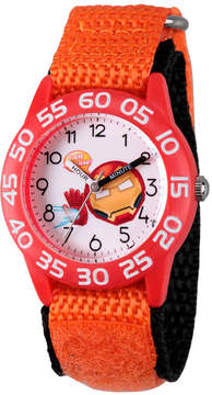 Marvel Emoji Boys Orange Strap Watch-Wma000078