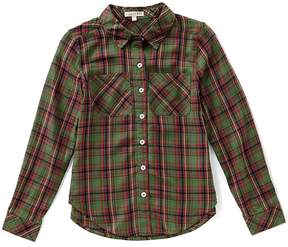 Copper Key Big Girls 7-16 Plaid Button-Down Top