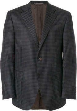 Canali checked formal blazer