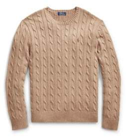 Ralph Lauren Cable-Knit Cotton Sweater Honey Brown Heather 1X Big