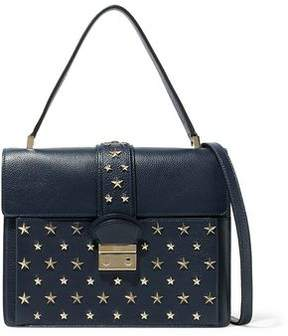 RED Valentino Studded Textured-Leather Shoulder Bag