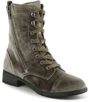 Report Women's Hahn Velvet Combat Boot
