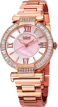 Burgi Unisex Rose Goldtone Bracelet Watch-B-082rg