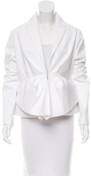 DELPOZO Pleated Fitted Blazer