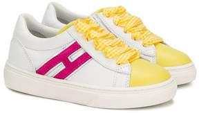 Hogan contrast logo sneakers