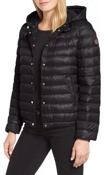 Bernardo Petite Women's Water Resistant Insulated Hooded Bomber Jacket