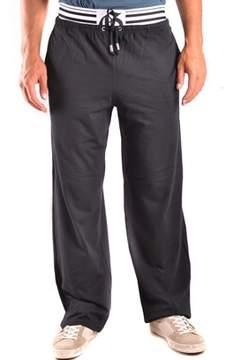 Galliano Men's Black Cotton Joggers.