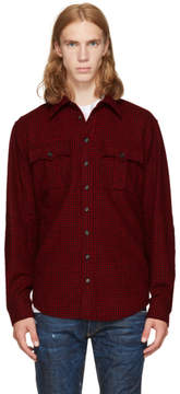 DSQUARED2 Red and Black Check Canada Hiking Shirt
