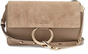 Chloé Faye Small Leather And Suede Cross Body Bag - Womens - Grey