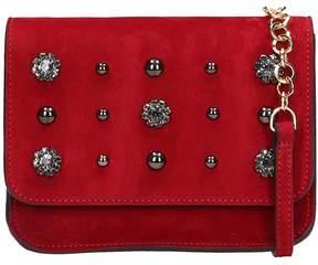 L'Autre Chose Red Suede Belt Bag
