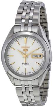 Seiko 5 Silver Dial Stainless Steel Men's Watch