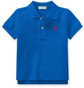 Ralph Lauren | Cotton Mesh Polo Shirt | 18-24 months | New iris