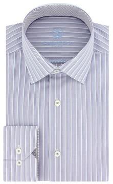 Bugatchi Men's Trim Fit Stripe Dress Shirt