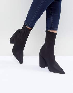 Missguided Flared Heel Ankle Boot