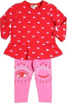 Kenzo Cotton Jersey Dress & Leggings