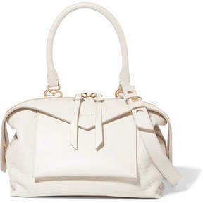 Givenchy Sway Small Smooth And Textured-leather Shoulder Bag - Off-white