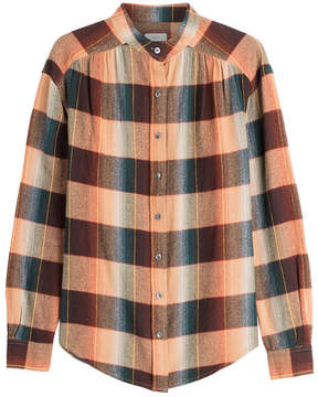 Closed Check Print Shirt