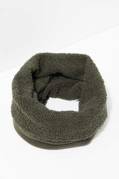 7 For All Mankind Poodle Tube Scarf In Army