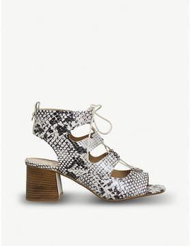 Office Mallorca snakeskin-print leather sandals