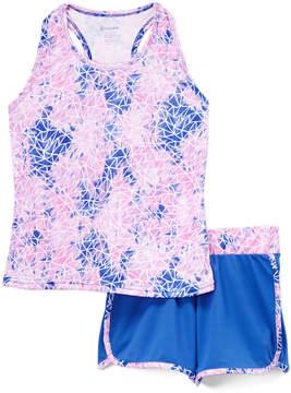 Gaiam Blue Voltage Racerback Tank & Blue Shorts - Girls