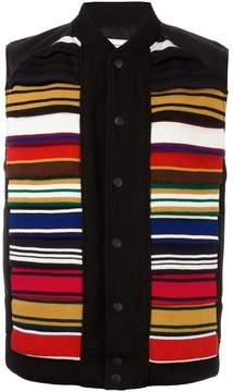 Facetasm contrast stripe vest