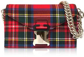 Christopher Kane Mars Red Tartan Small Devine Bag