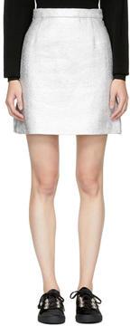 Carven Silver Metallic Miniskirt