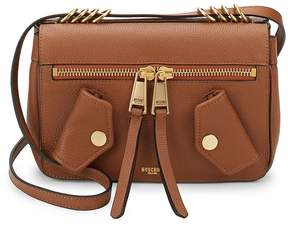 Moschino Women's Compact Pocketed Leather Shoulder Bag
