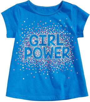 First Impressions Girl Power-Print Cotton T-Shirt, Baby Girls (0-24 months), Created for Macy's
