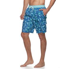 Croft & Barrow Big & Tall American Palms Swim Trunks