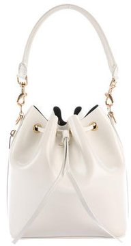 Saint Laurent Leather Emmanuelle Bucket Bag - WHITE - STYLE