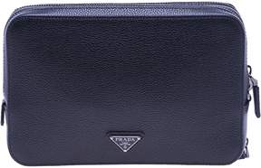 Prada Square Pouch With Double Zip