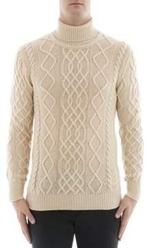 Ballantyne Men's White Cashmere Sweater.