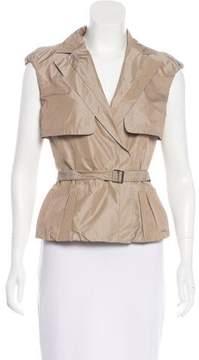 Lida Baday Notch-Lapel Belted Vest
