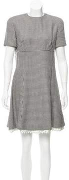 Christian Dior Houndstooth Mini Dress