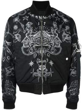 Givenchy tattoo print bomber jacket