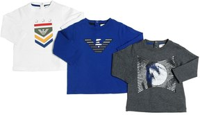 Armani Junior Set Of 3 Cotton Jersey T-Shirts