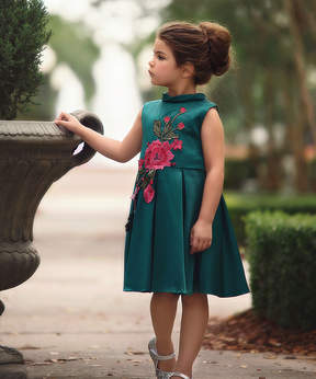 Bardot Emerald Dress - Infant