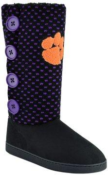 NCAA Women's Clemson Tigers Button Boots