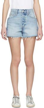 Amo Blue Rosebowl Denim Shorts