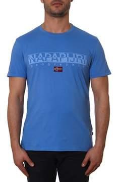 Napapijri Men's Blue Cotton T-shirt.