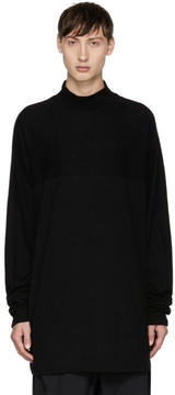 Julius Black Mock Neck T-Shirt