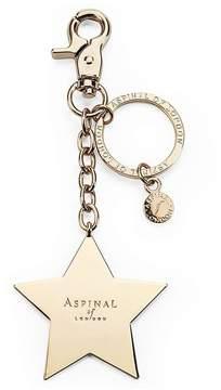 Aspinal of London Gold Plated Star Handbag Charm Keyring